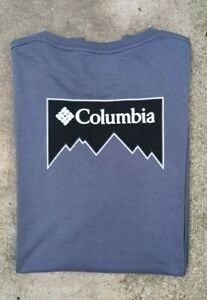 Authentic Columbia Long Sleeve Rear Motif Tee. T-Shirt. Large.