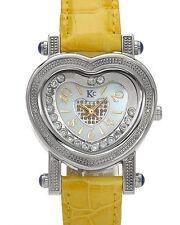 Techno Com KC Diamond & Crystals Heart Ladies Watch Quartz Mvmt. MSRP $ 1000 NIB