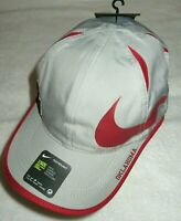 Nike Mens Featherlight Aerobill Oklahoma Sooners Big Swoosh Hat Grey Red NWT