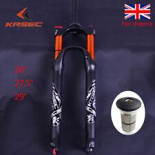 """KRSEC 26/27.5/29"""" MTB Bike Fork Air Shock Suspension Forks Disc Rebound Adjust"""