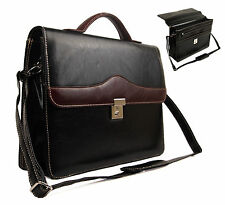 New Quality Faux Leather Business Briefcase Work Office Documents Satchel Bag