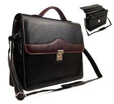 NUOVA qualità Faux Leather business VALIGETTA LAVORO UFFICIO DOCUMENTI Satchel Bag