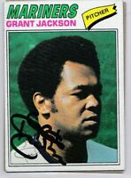 Seattle Mariners GRANT JACKSON signed auto autographed 1977 TOPPS card 79 WSC