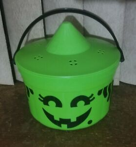 Mcdonalds 1986 Green Witch Halloween bucket