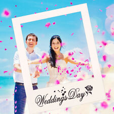 Wedding Day Photo Booth Props Frame Paper Bride and Groom Background Party Decor