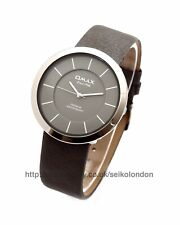 Omax Unisex White Dial Watch, Silver Finish, Seiko (Japan) Movt. RRP £49.99