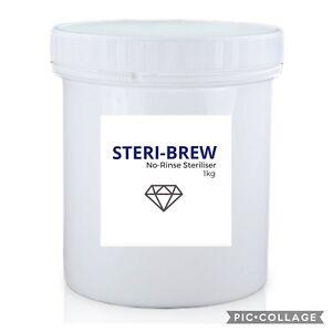 Sodium Percarbonate Granular Cleaner Steri-Brew NO RINSE Home Brew 1Kg Tub
