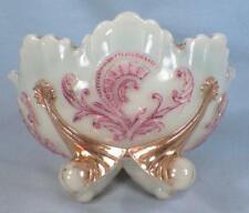 Inverted Fan & Feather Berry Bowl Custard Glass Dugan Early American Pattern 607