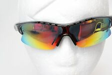 IZE Sport Golf Impact Resist Polycarbonate Sunglasses Wrap Style Mirror Lens New