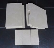Fire Bricks to fit Firebelly FB1 Stove Fire Bricks Full Set Inc. 3 base Bricks