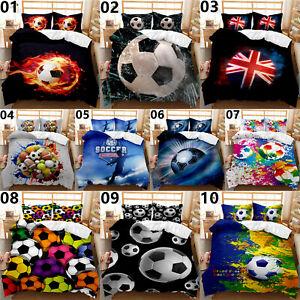 Football Single Double King Super King Size Bed Duvet Quilt Cover Set Pillowcase
