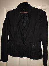 Ladies Black Linen Jacket Size 12