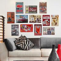 Retro Metal Tin Sign Poster Plaque Bar Pub Club Cafe Home Plate Wall Decor Art