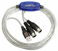 CAVO ADATTATORE INTERFACCIA MIDI USB IN/OUT PC AUDIO