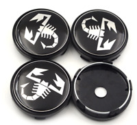 4 x 60mm Scorpion Wheel Center Cap Alloy Logo Emblem Center Hub Cap Sticker FIAT