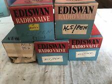Mazda Ediswan AC5/PEN vacuum tubes x5. NOS vintage. Original packaging.