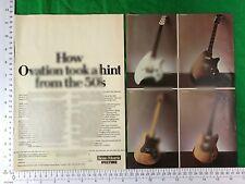 Ovation vintage guitar advert 1977 Breadwinner Deacon Viper Preacher