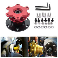 RED QUICK RELEASE SNAP OFF STEERING WHEEL HUB BOSS KIT fit MOMO MASO OMP AU