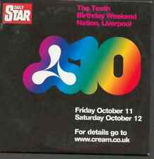 CREAM 10: TENTH BIRTHDAY WEEKEND 11-12 OCTOBER 2002 - NATION LIVERPOOL: PROMO CD
