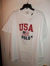 NWT Mens XL White Polo Ralph Lauren USA Flag T-Shirt New
