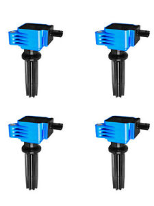 Set of 4 High Performance Ignition Coils for Ford Edge Focus Lincoln MKZ  UF670