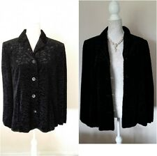 LIBRA Vintage Style Designer Coat Jacket Black With Lining UK Size 16