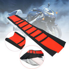 Universal Leather Seat Cover Wrap Custom Red For Motorcycle Honda Suzuki KTM 1x