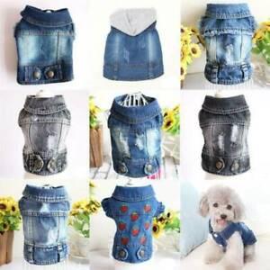 Dog Cat Jean Jacket Coat T Shirt Various Pet Puppy Apparel Clothes Pet Clothes