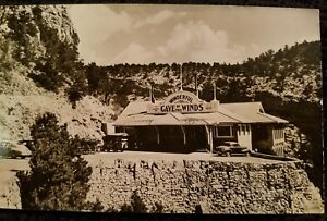 Cave of the Winds Colorado CO 1939 RPPC Cars & Wagons Colorado Springs