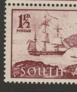 South Africa 1952 ERROR VARIETY Pennant flaw (R. 17/5) sg127b in block of four