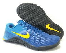 Size 10.5 Nike Metcon 4 XD Team Royal Amarillo Training Shoes BV1636-474 Mens