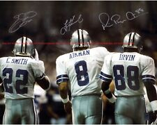 Troy Aikman, Michael Irvin, Emmitt Smith Cowboys Autographed 8x10 Signed Reprint