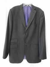 Ted Baker Endurance charcoal gray striped Wool Two-Button Blazer Jacket 42L