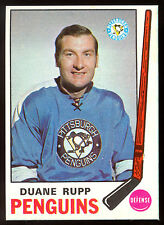 1969 70 OPC O PEE CHEE HOCKEY #153 DUANE RUPP NM MINT  PITTSBURGH PENGUINS CARD