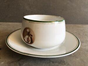 Rüger Hansi Schokolade Kakao Reklame Tasse um 1930 Rare Porzellan Werbung