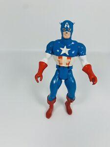 "Marvel Secret Wars Captain America 4.5"" Vintage Action Figure Mattel 1984"