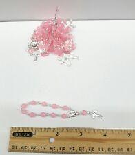 Decenary Rosary 10 beads in Pink plastic-bunch of 10 pcs -Rosario de 10 pzs