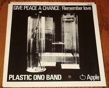 JOHN LENNON /PLASTIC ONO BAND GIVE PEACE A CHANCE / REMEMBER LOVE ORIGINAL APPLE