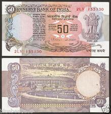 ★ ★ ★  50 Rupees C.Rangarajan  'B' Inset ~ UNC ~ F-13 ★ ★ ★ bb85