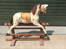 Victorian Rocking Horse On Wooden Stand For Restoration