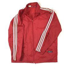 1970's Vintage ADIDAS 3 Stripe Windbreaker Jacket Concealable Hood