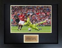 Anthony Martial Manchester United Football Framed Signed Autograph Photo COA