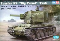 "Hobbyboss 1:48 KV ""Big Turret"" Russian Tank Model Kit"