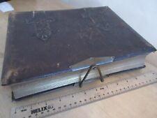 Antique Leather Photo Album Herborita c.1900 Family & Staff + 110 Photos