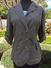 + $300 NWT Anthropologie EMBROIDERED Apriori Safari Blazer Jacket Military Urban