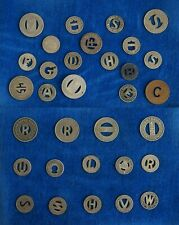 RAILWAY / BUS / TRANSIT TOKENS - Lot of 22 - Collection of Assorted Cities
