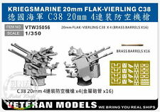 Veteran Models 1/350 Kriegsmarine 20mm Flak-vierling C38 4pcs