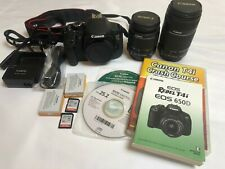 Canon EOS Rebel T4i Camera with18-55 and 55-250 lenses +Extras!
