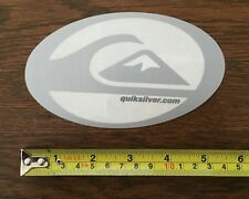 Quiksilver Sticker - Gray Silver and Clear Oval - VINTAGE