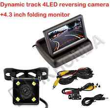 4.3 TFT Flodable Monitor + 4 LED Car Dynamic Track Rear View Reverse CCD Camera